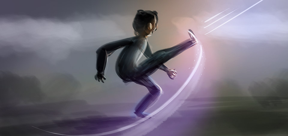 With great motion and enthusiasm, this young man is as alive as he has ever been, revived through the spirit. -- Alive and Kicking - Digital Art by Matthias Zegveld