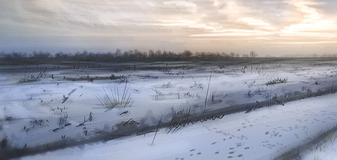 Amazing Snowscape - Digital Art by Matthias Zegveld