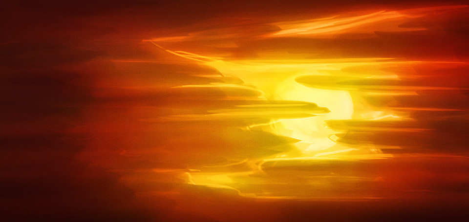 This inspirational metaphor for success displays the sun partly hidden behind the clouds, slowly breaking through. -- Breaking Through - Digital Art by Matthias Zegveld