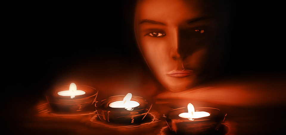 Gazing at the candlelights, this is a night spent in romance, together with the woman of your heart. -- Candlelight Woman - Digital Art by Matthias Zegveld