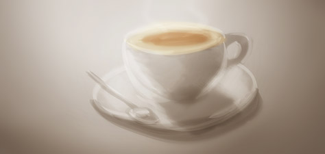 Coffee Time - Digital Art by Matthias Zegveld