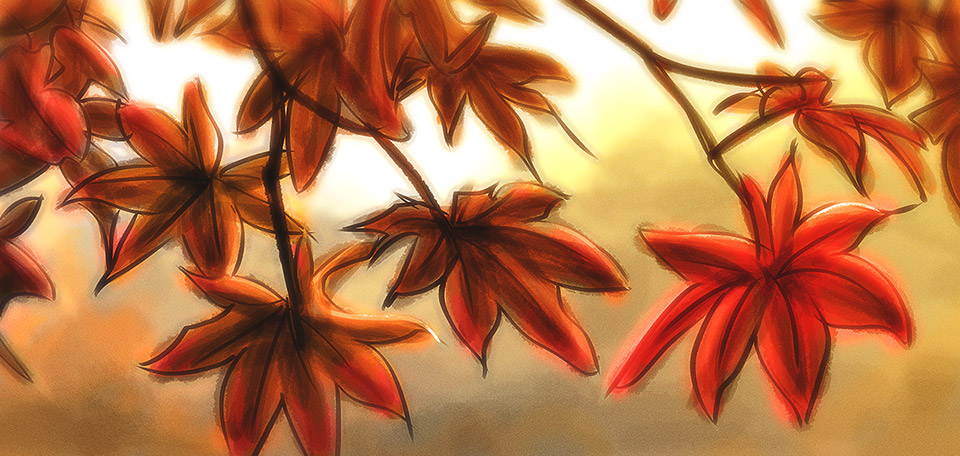 When the fall time takes its stand, the forest turns into a wonderful palette of reddish colors. -- Colors of Fall - Digital Art by Matthias Zegveld