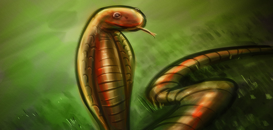 With its evil eyes and its poisonous tongue, this cobra is as deadly as hell. -- Deadly Cobra - Digital Art by Matthias Zegveld