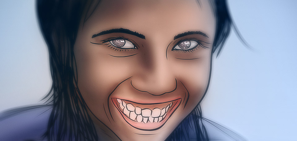 Being able to allow yourself to laugh freely is a gift from God. -- Fantastic Smile - Digital Art by Matthias Zegveld