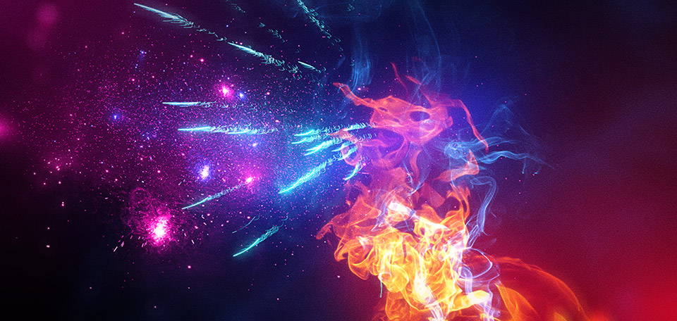 This awesome creature that looks like a lion is spitting out a colorful bouquet of glorious fireworks. -- Fire of Glory - Digital Art by Matthias Zegveld