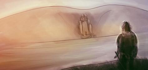 Fortress in the Mountain - Digital Art by Matthias Zegveld