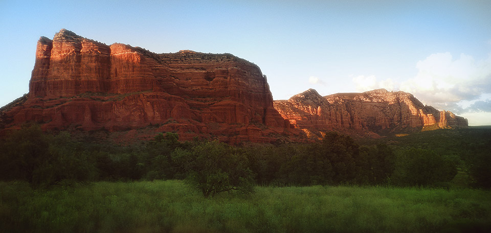 With its beautiful red rocks, a clear blue sky, this sight near Sedona truly is heaven on earth. -- Heaven on Earth - Digital Art by Matthias Zegveld