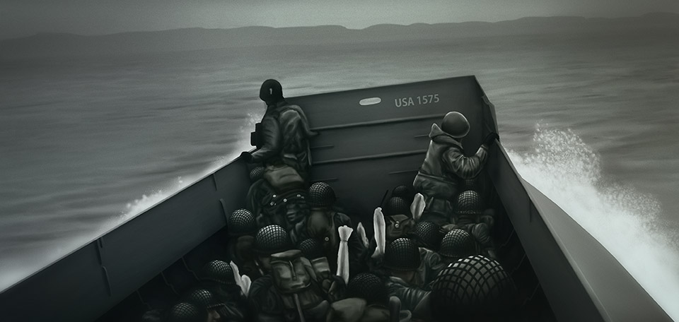 Remembering those who had the courage to fight for the freedom of Europe, during World War Two in Normandy. -- Heroes of War - Digital Art by Matthias Zegveld