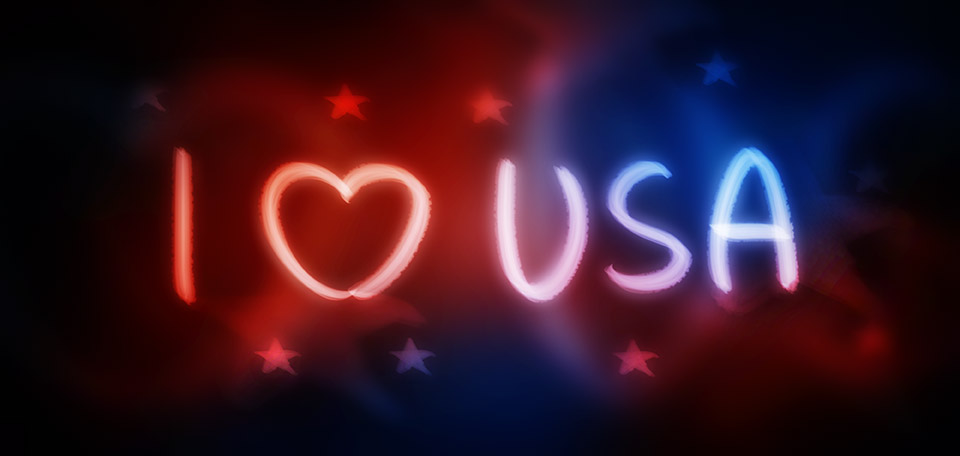Despite its worldwide criticism, I truly love the United States of America with all its problems and glories. -- მე მიყვარს ამერიკის შეერთებული შტატები - Digital Art by Matthias Zegveld