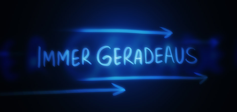 Immer Geradeaus means Straight Ahead and is the main theme of my ministry for achieving success. -- Immer Geradeaus - Digital Art by Matthias Zegveld