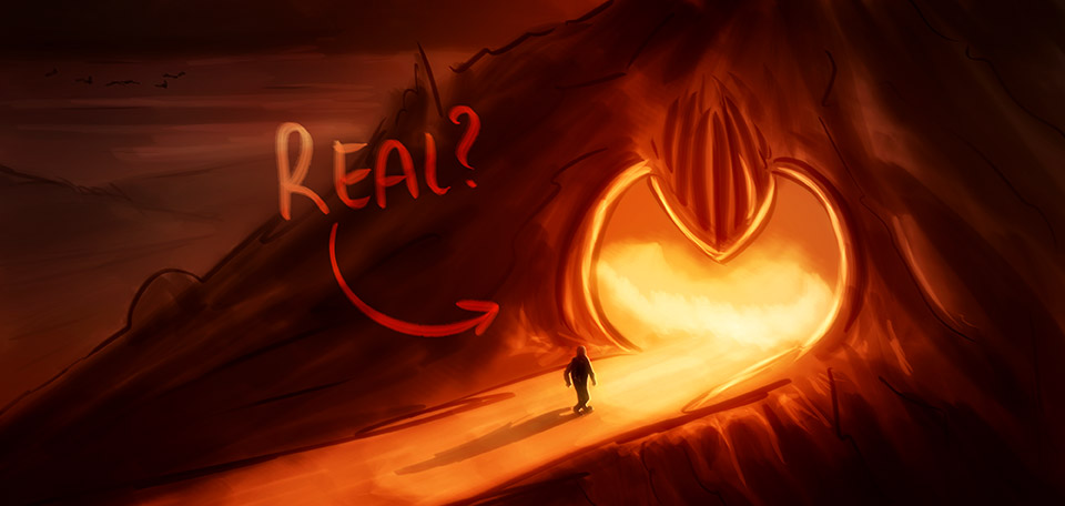 Asking yourself the question if Hell could be real… -- واقعا وجود دارد جهنم - Digital Art by Matthias Zegveld