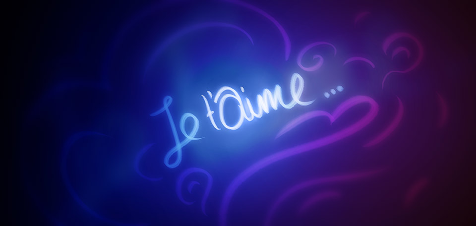Written in French, displayed with bright and vivid colors, it's never too late to say I love you. -- Je t'Aime - Digital Art by Matthias Zegveld