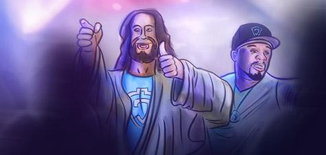 Jesus and 50 Cent Go Clubbing - Digital Art by Matthias Zegveld