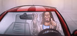 Jesus Buying a Mustang - Digitale Art von Matthias Zegveld