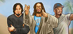 Jesus with Sonny Sandoval and 50 Cent - Digital Art by Matthias Zegveld