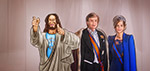 Jesus with the Dutch King and Queen - Digital Art by Matthias Zegveld