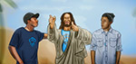 Jesus with Trip Lee and Lecrae - Digital Art by Matthias Zegveld