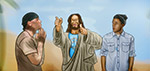 Jesus with Trip Lee and Tyrese Gibson - Digital Art by Matthias Zegveld