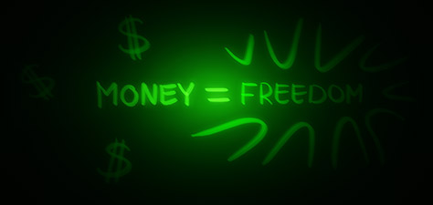Money Equals Freedom - Digital Art by Matthias Zegveld