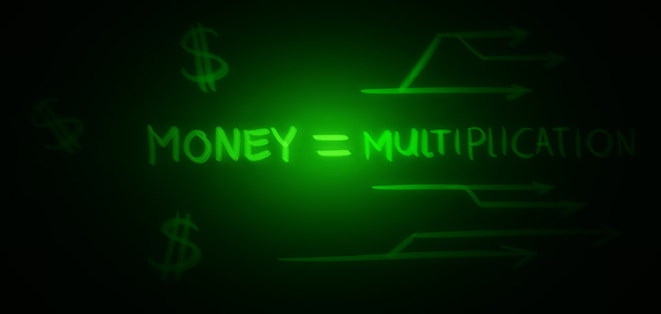 When you have money, it's far more easier to multiply it — through investing and expanding. -- Money Equals Multiplication - Digital Art by Matthias Zegveld