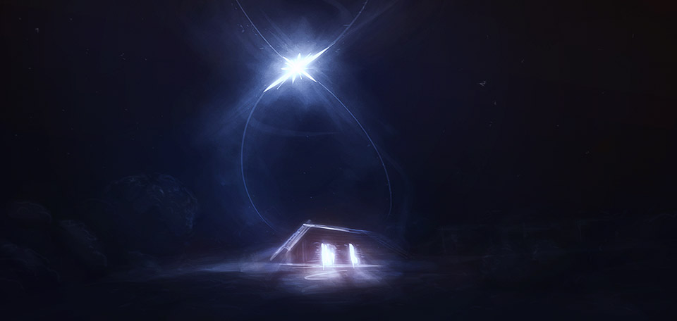 On this one special night, a bright star appeared above a manger, and out of it came a baby born. -- Point of Extraction - Digital Art by Matthias Zegveld