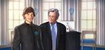President Matthias Zegveld and Robert De Niro - Digital Art by Matthias Zegveld