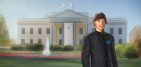 President Matthias Zegveld Entering the White House - Digital Art by Matthias Zegveld