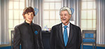President Matthias Zegveld with Bill Clinton - Digital Art by Matthias Zegveld