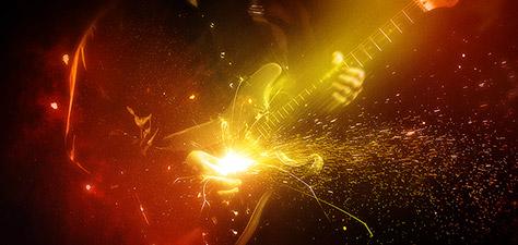 Rocking the Guitar - Digital Art by Matthias Zegveld