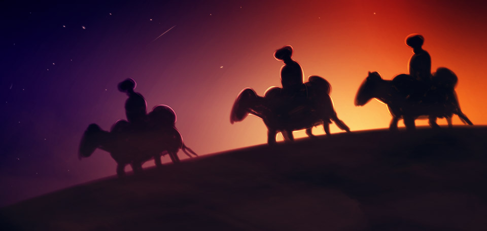 When they saw the risen star hanging above Bethlehem, some wise men started a journey to find the newborn king of the Jews. -- Some Wise Men - Digital Art by Matthias Zegveld