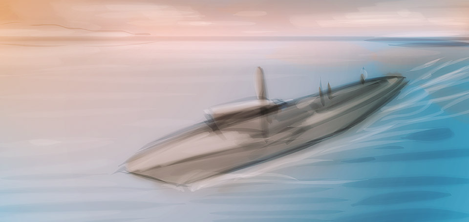 Crusing with honor and great weaponry on board, this American navy ship is protecting the Caribbeans. -- The Caribbean Navy - Digital Art by Matthias Zegveld