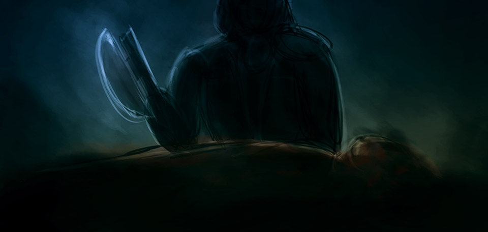 No mercy for filthy little demons… -- The Execution - Digital Art by Matthias Zegveld