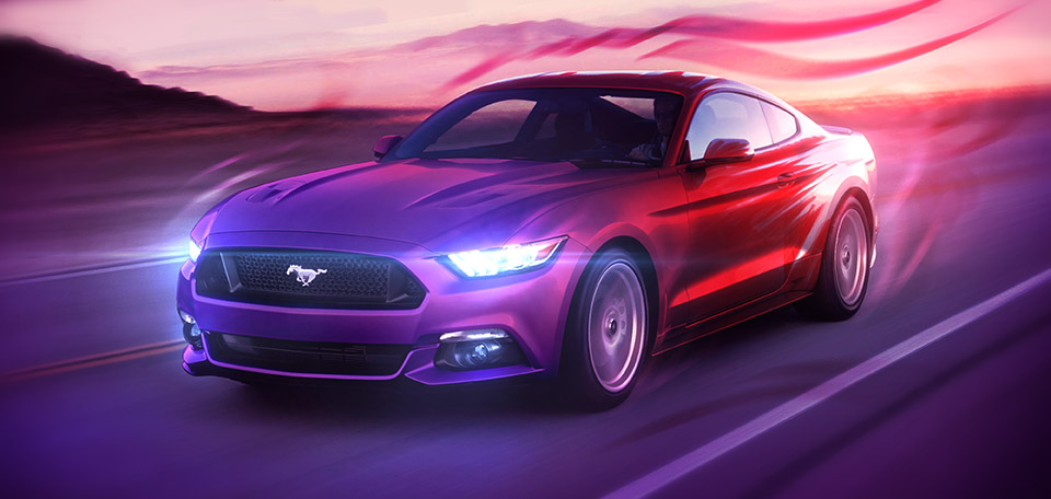 This Art pictures the Awesome 2016 Ford Mustang, in a Creative way and shows my passion for American Muscle Cars. -- The Great Ford Mustang - Digital Art by Matthias Zegveld