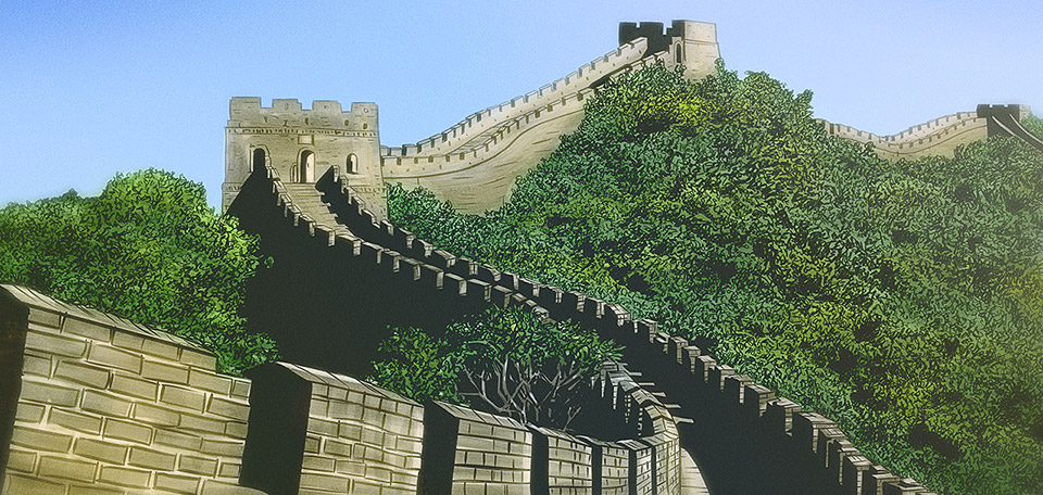 A great wall is built of many small stones… -- The Great Wall - Art Numérique par Matthias Zegveld