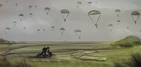 The Men Who Jumped - Digital Art by Matthias Zegveld