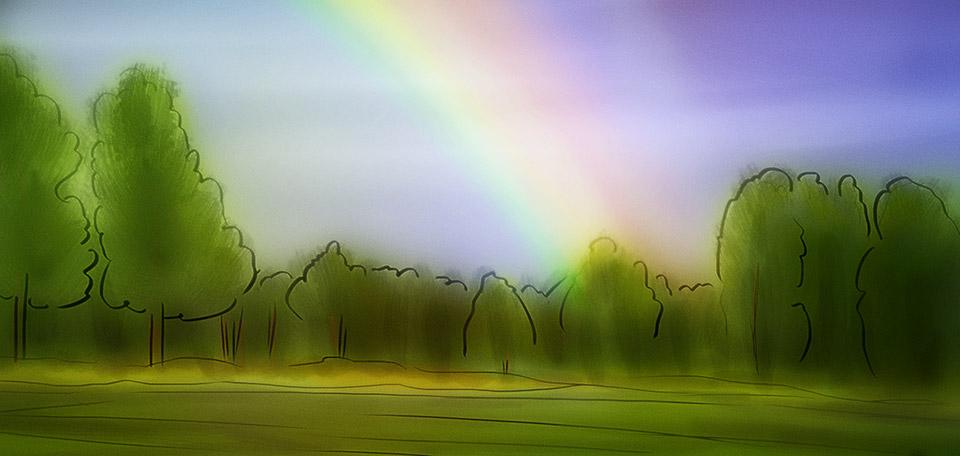 The Rainbow - Digital Art by Matthias Zegveld