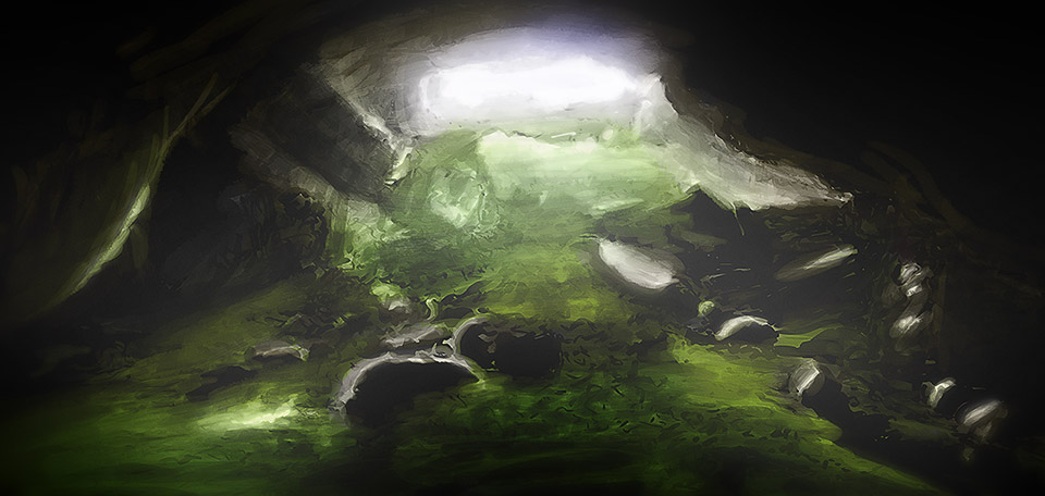 If life feels like you're in a dark cave, desperately looking for a way out, focus on the light at the end. -- The Way Out - Digital Art by Matthias Zegveld