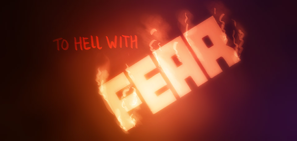 To Hell with Fear - Digital Art by Matthias Zegveld