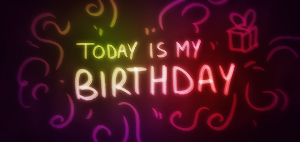 Today is March the 24th, and the day that I was born, just a few decades ago. -- Today Is My Birthday - Digital Art by Matthias Zegveld