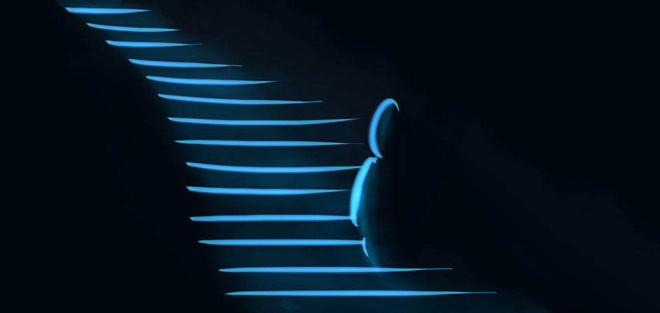 Bien qu'il puisse être toute obscurité autour de nous, nous gardons confiance dans le plan du Seigneur, étape par étape, nous nous rapprochons de notre destin. -- Nous Nous Rapprochons - Arte Digital de Matthias Zegveld