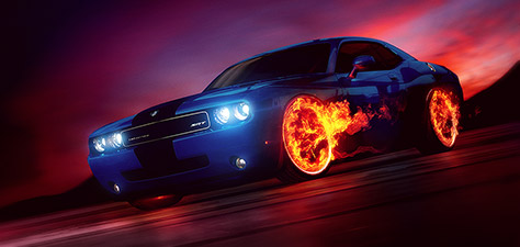 Wheels on Fire - Digitale Art von Matthias Zegveld
