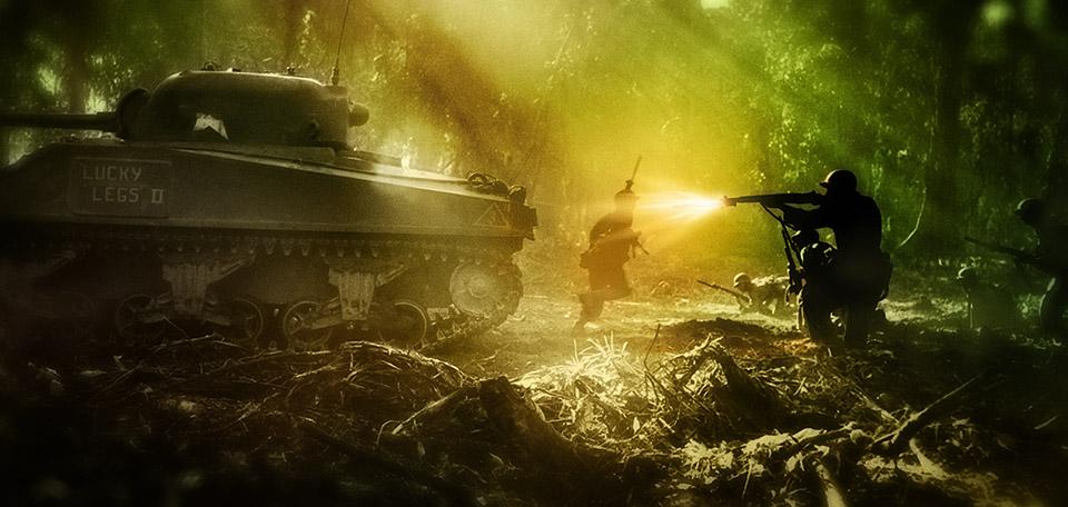 A Fierce Battle - Digital Art by Matthias Zegveld