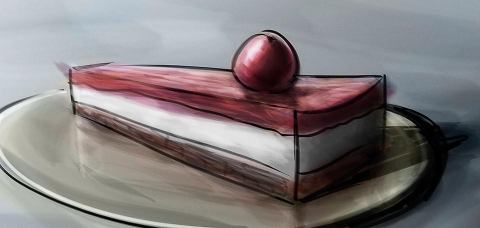 Great Cherry Pie - Digital Art by Matthias Zegveld
