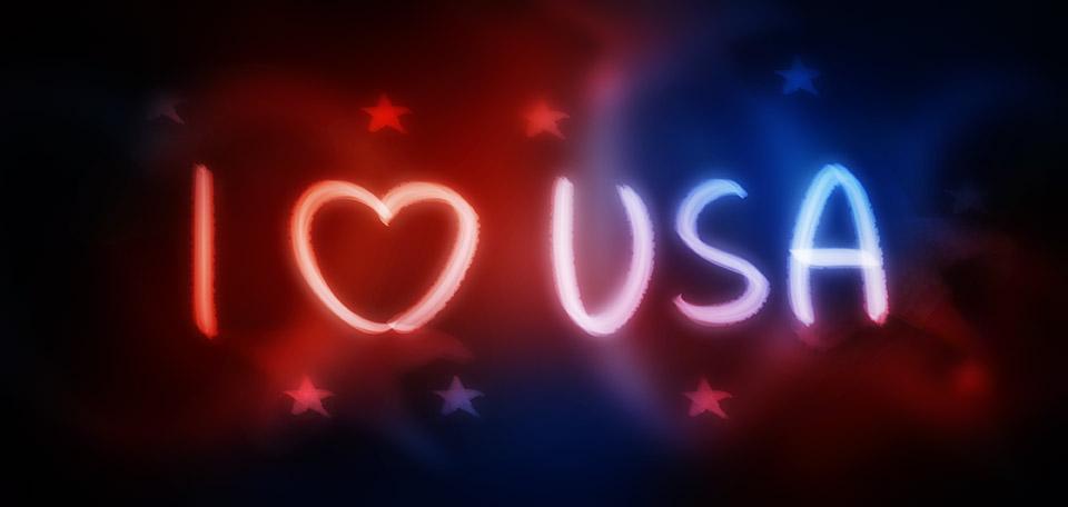 I Love the United States of America - Digital Art by Matthias Zegveld