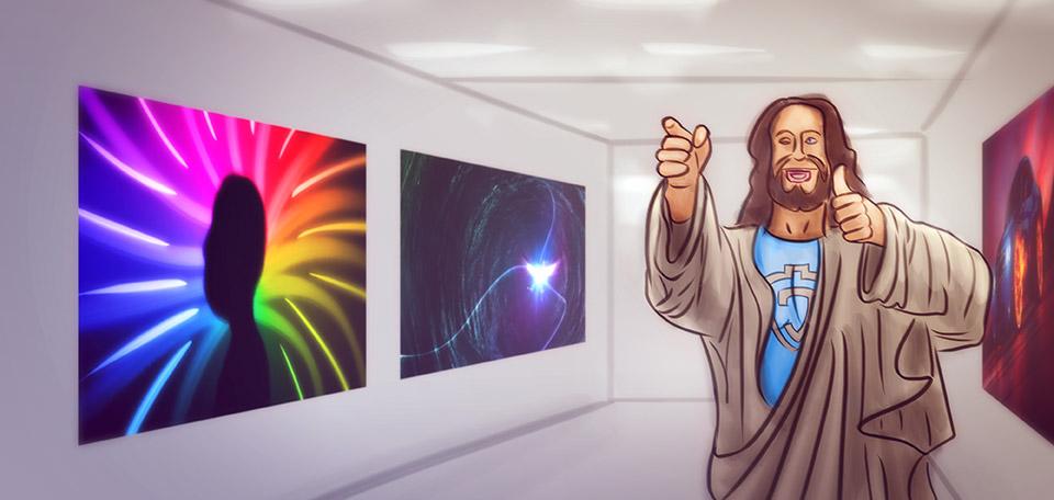 Jesus at the Museum - Digital Art by Matthias Zegveld