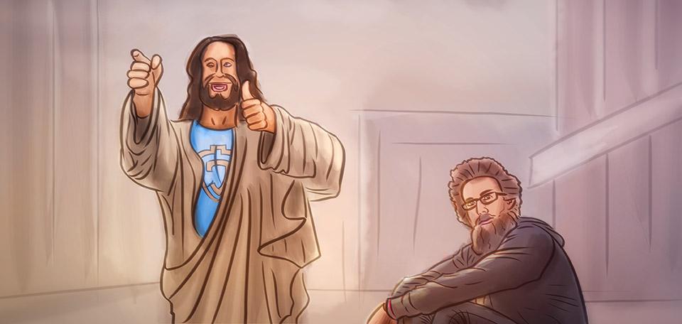 Jesus With David Crowder - Digital Art by Matthias Zegveld