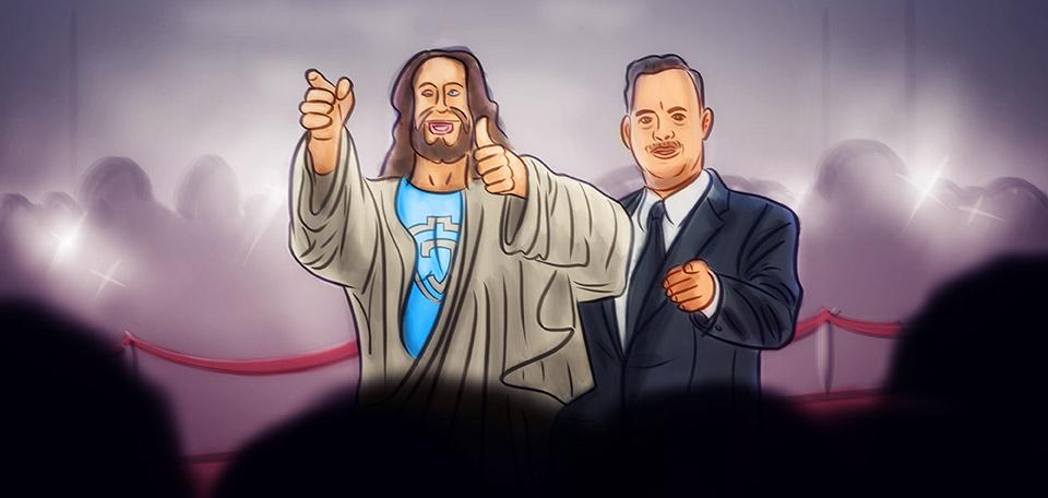Jesus with Tom Hanks - Digital Art by Matthias Zegveld