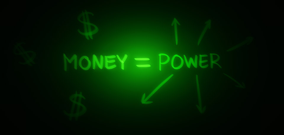 Money Equals Power - Digital Art by Matthias Zegveld