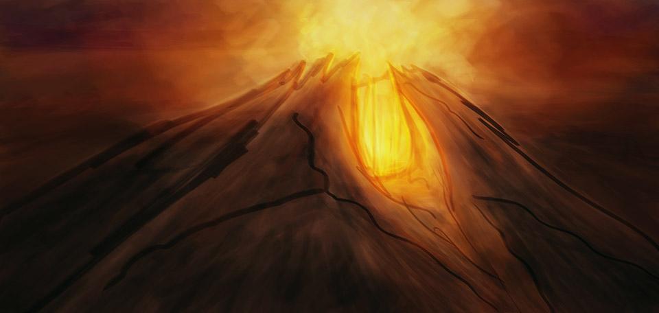 Mountain of Doom - Digital Art by Matthias Zegveld