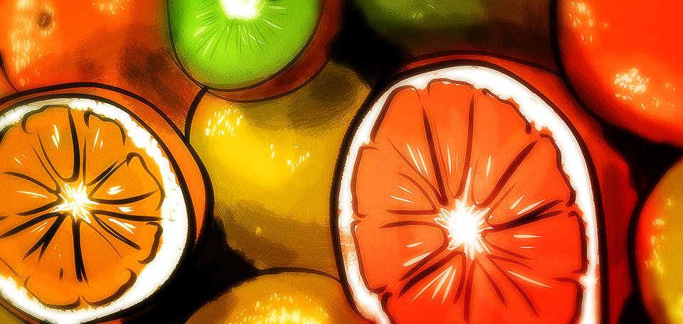 Plenty of Fruit - Digital Art by Matthias Zegveld